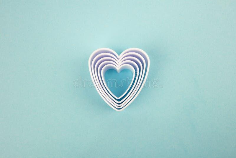 White Hearts royalty free stock photo