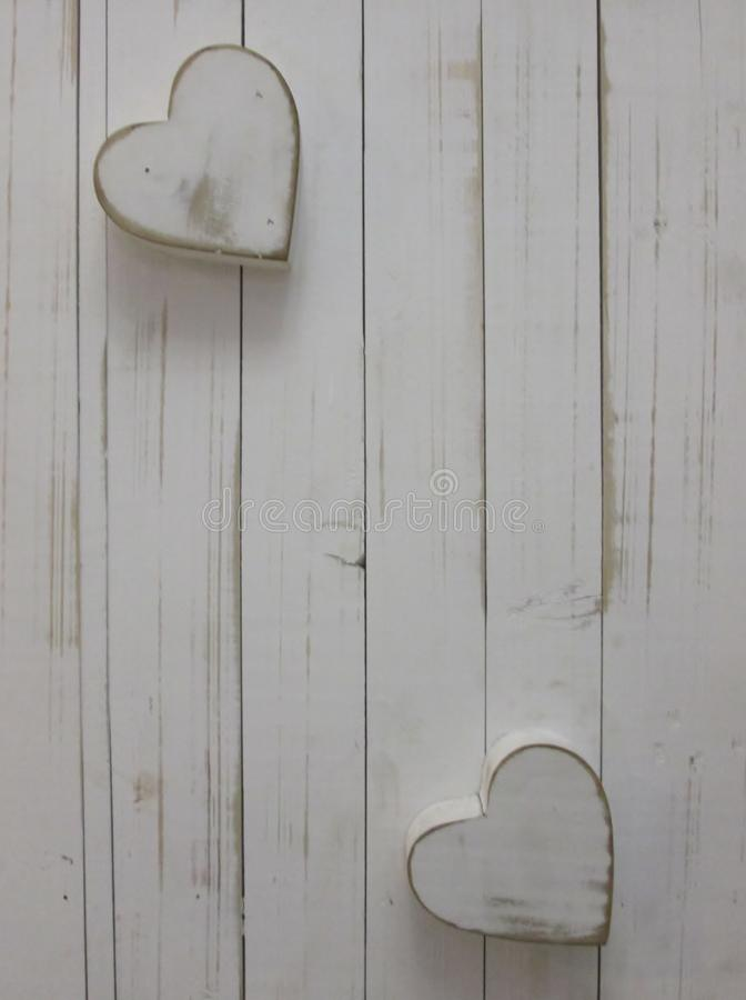 White Hearts. royalty free stock images