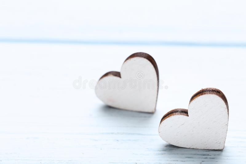 White hearts stock image