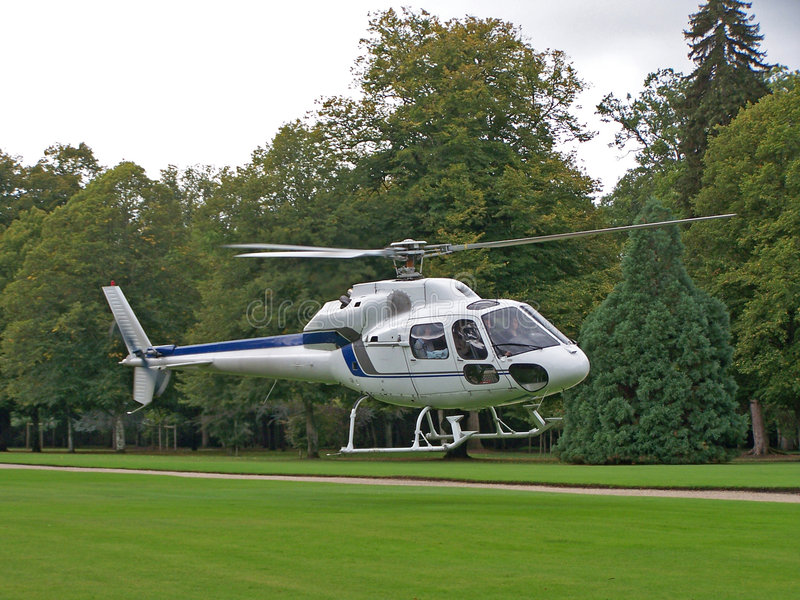 Download White Helicopter stock photo. Image of grass, white, aeroplane - 452276