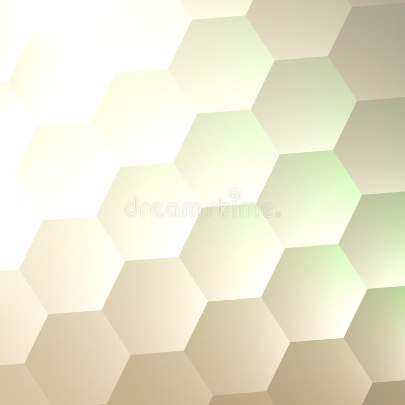 White Hexagon Wall Background. Simple Blank Copy Space. Lots of Hexagons. Abstract Quilted Soft Hex Shapes. Poster Banner. White Hexagon Wall Background. Simple royalty free illustration