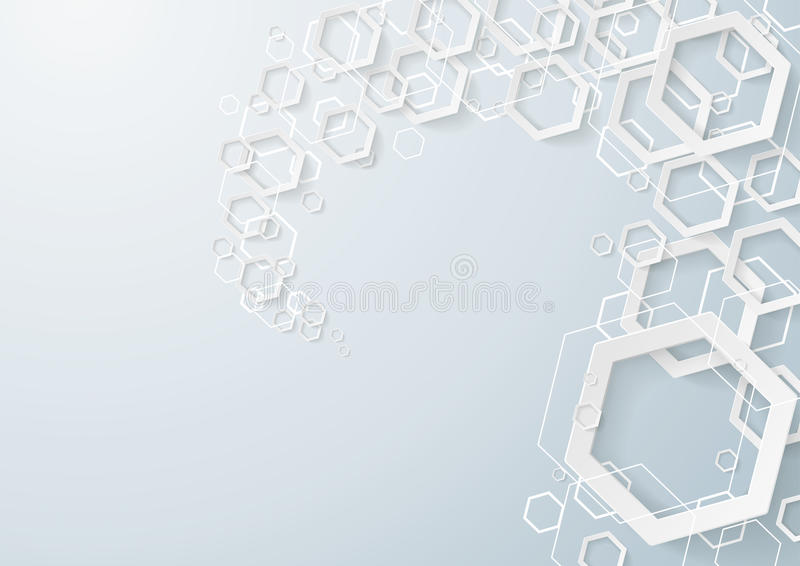 White Hexagons Dust royalty free illustration