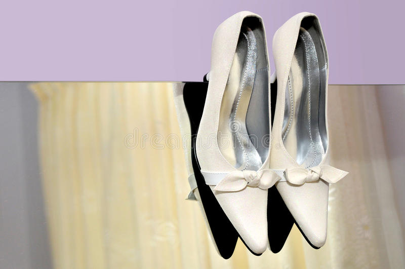 White high heels royalty free stock photos