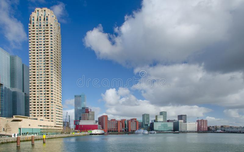 White High-rise Building Near Water stock photo