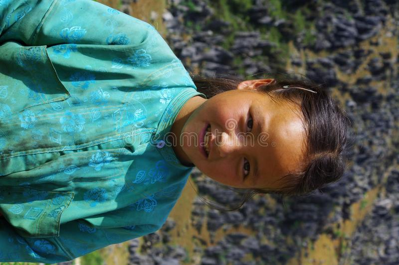 White Hmong Girl. Portrait of a White Hmong girl stock photo