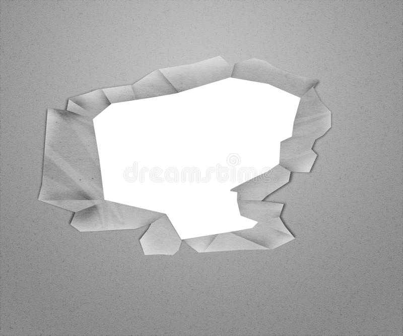 White Hole In The Paper Royalty Free Stock Images