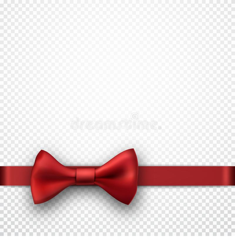 White holiday background with red bow. stock illustration