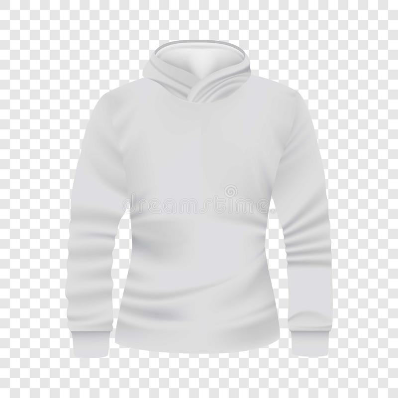 White hoodie front view mockup, realistic style. White hoodie front view mockup. Realistic illustration of white hoodie front view vector mockup for web vector illustration