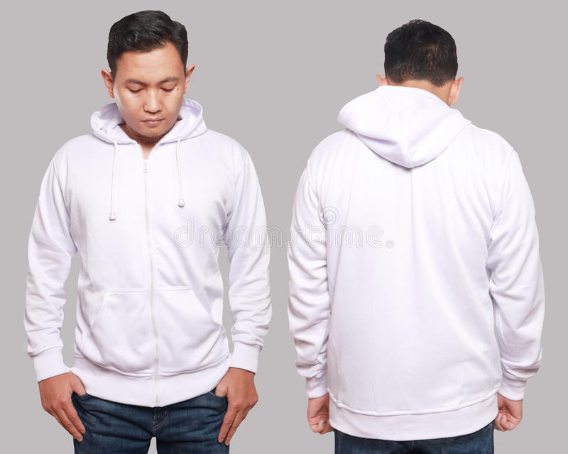White Hoodie Mock up royalty free stock images