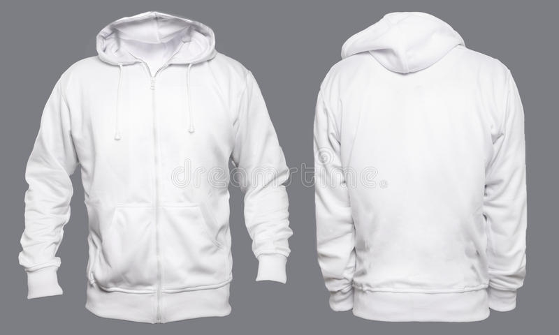 White Hoodie Mock up royalty free stock photography