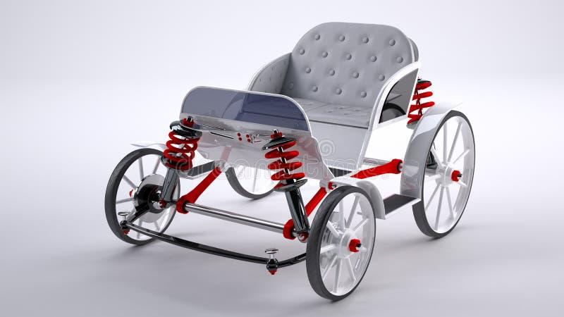 Download White horse cart stock illustration. Illustration of horse - 40654780