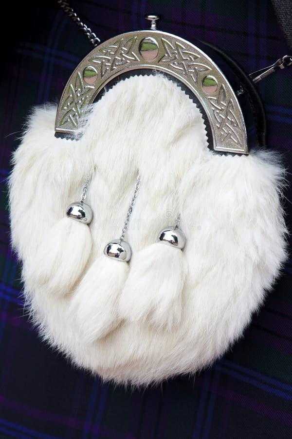White Horse Hair Sporran royalty free stock photos