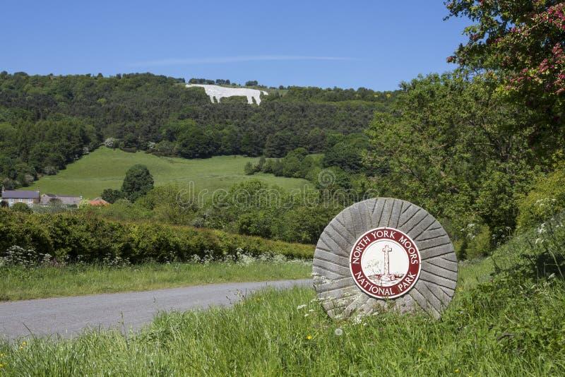 The White Horse near Kilburn - Yorkshire - England stock images