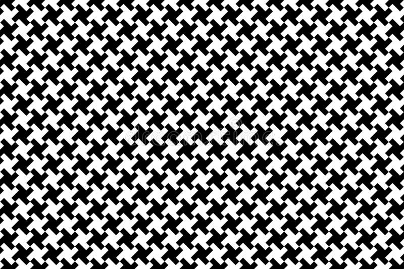 White houndtooth seamless pattern background. stock photo