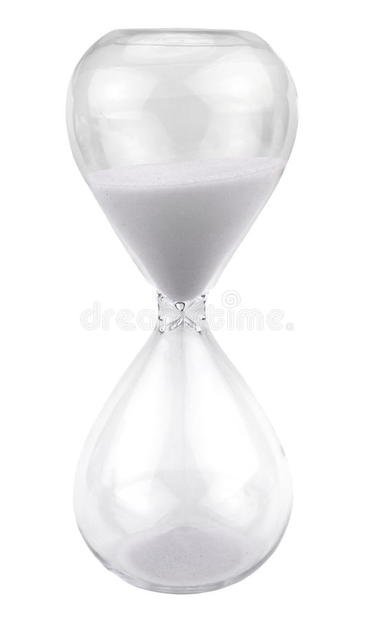 Download White hourglass stock image. Image of history, hourglass - 31298155