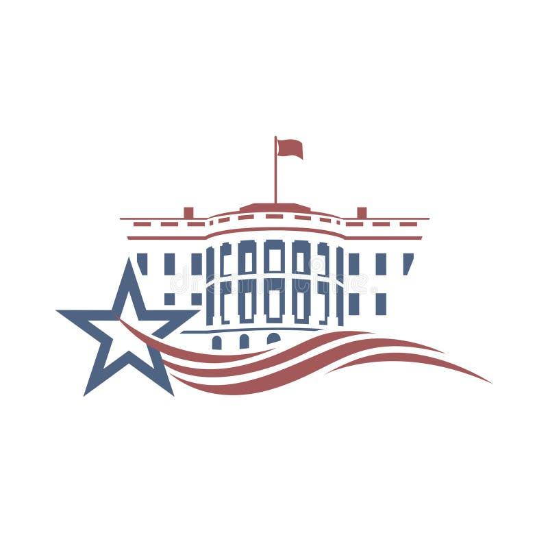 White house icon vector illustration