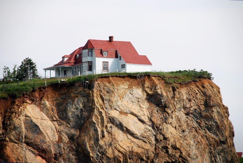 White House on the cliff stock photos