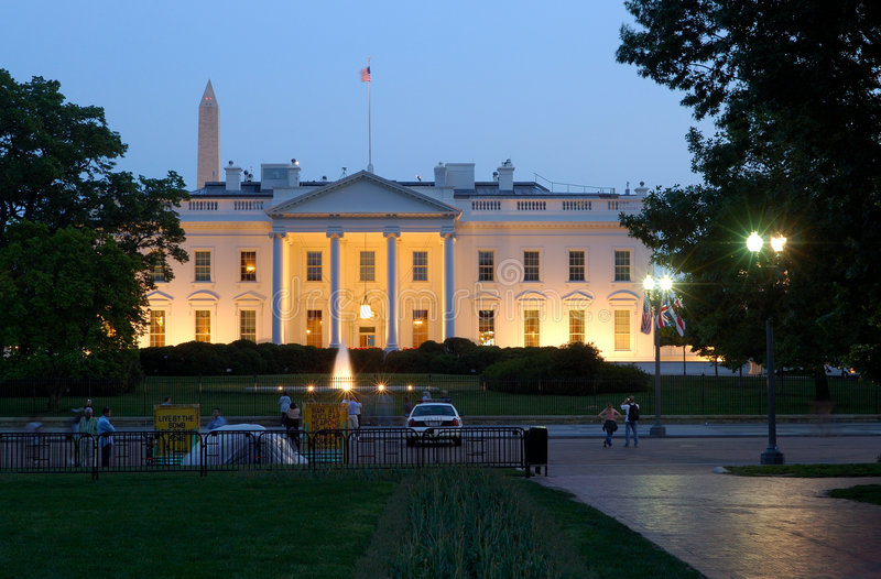 White House At Dusk stock images