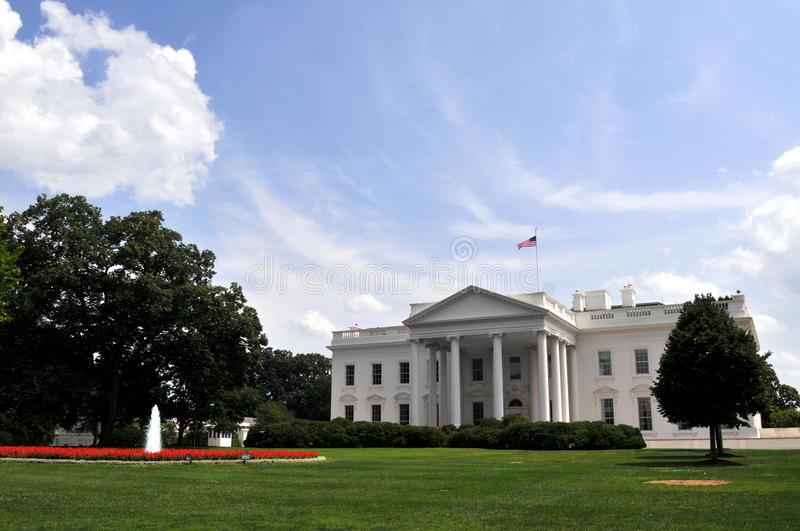 White House on Independence Day royalty free stock image