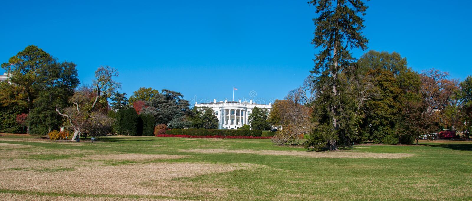 The White House and Lawn at the Nations Capital. Washington D.C stock images