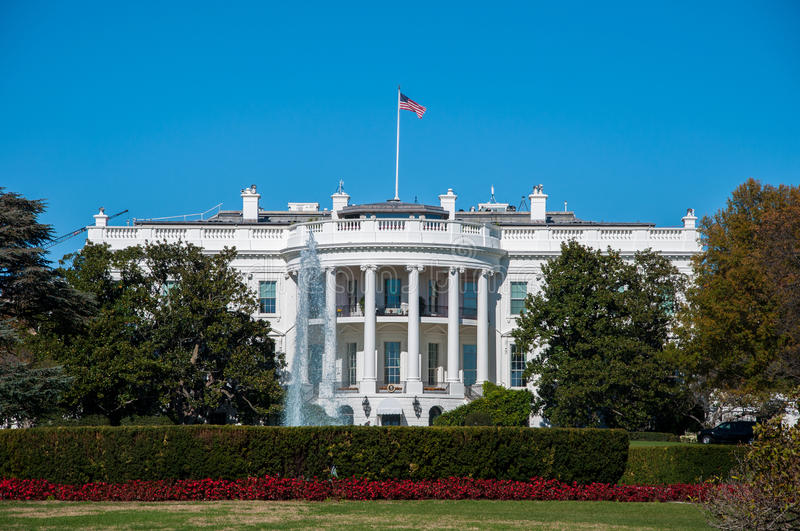 The White House and Lawn at the Nations Capital. Washington D.C stock photo