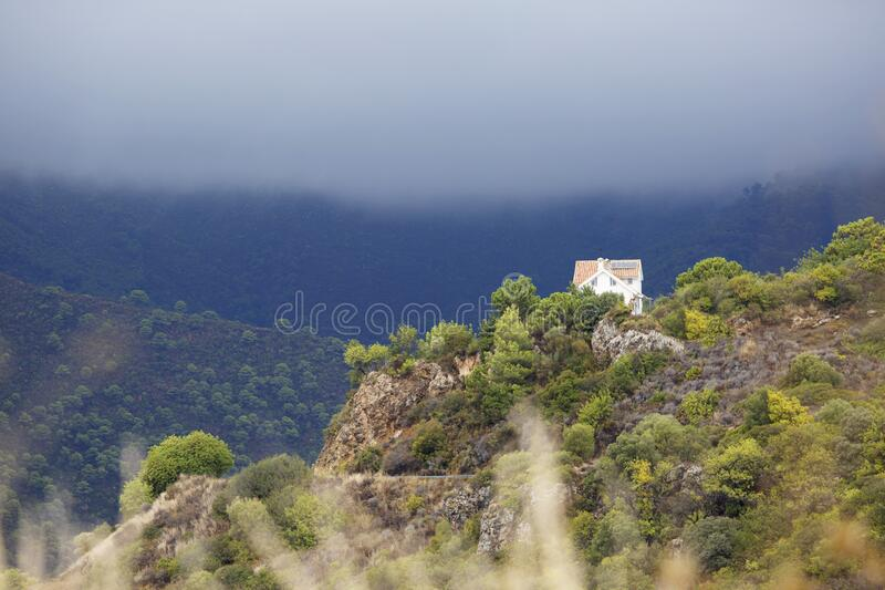 White House On Mountain During Cloudy Day Free Public Domain Cc0 Image