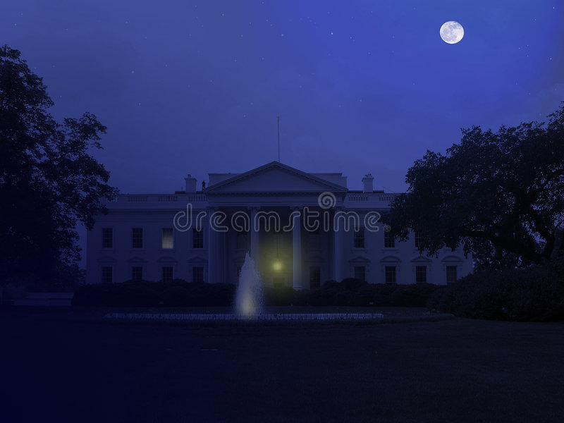 Download White House At Night Royalty Free Stock Images - Image: 1001129