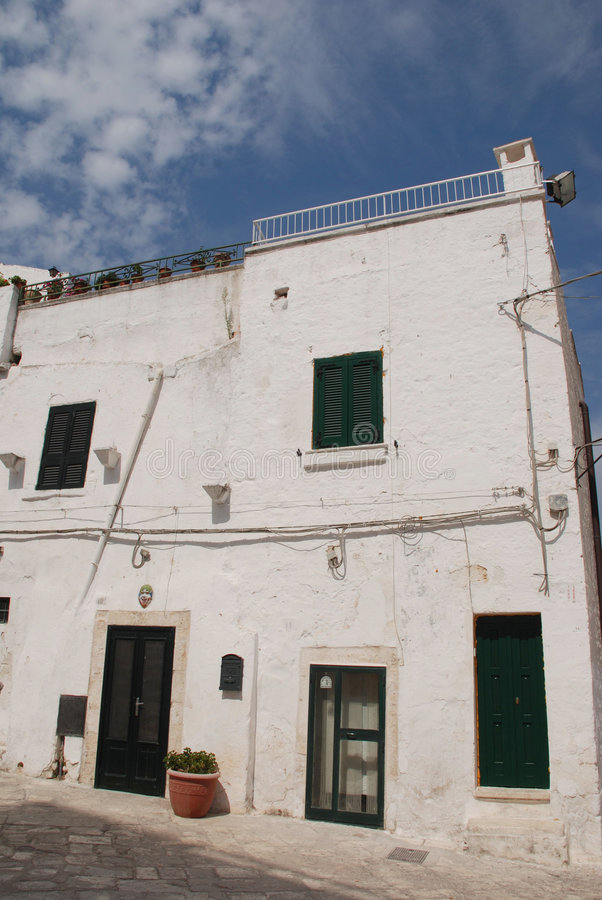 Download White House in Ostuni stock image. Image of houses, plant - 6956617