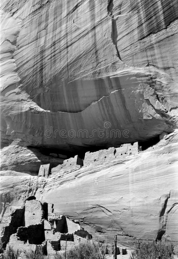 White House Ruins in Canyon de royalty free stock image