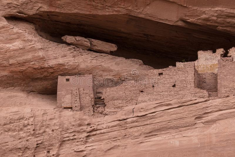 White House Ruins. In Canyon de Chelly National Monument in Chinle, Arizona royalty free stock photo