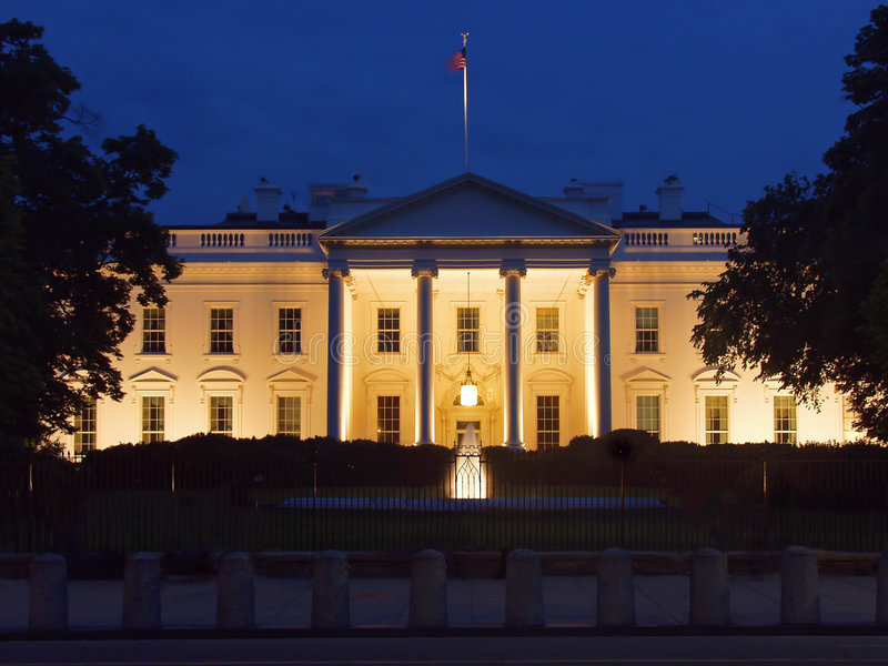 White house's west side royalty free stock photo