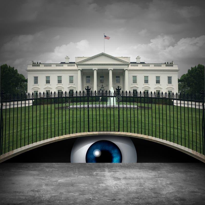 White House Secret vector illustration