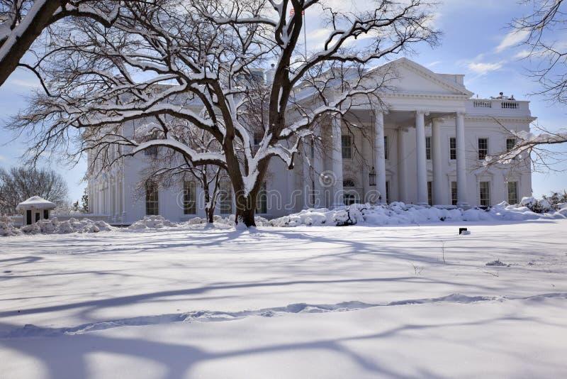 White House Snow Washington Dc Stock Photo Image Of