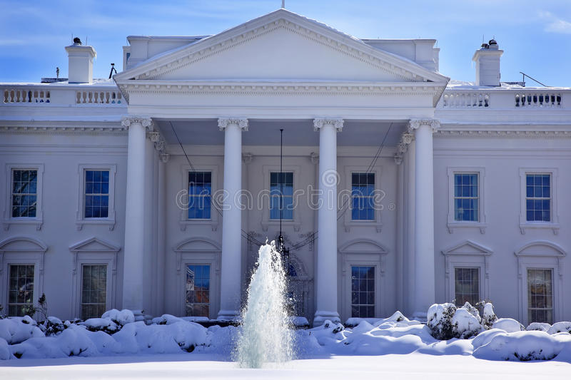 Download White House Snow Washington DC Stock Image - Image of national, america: 18677165