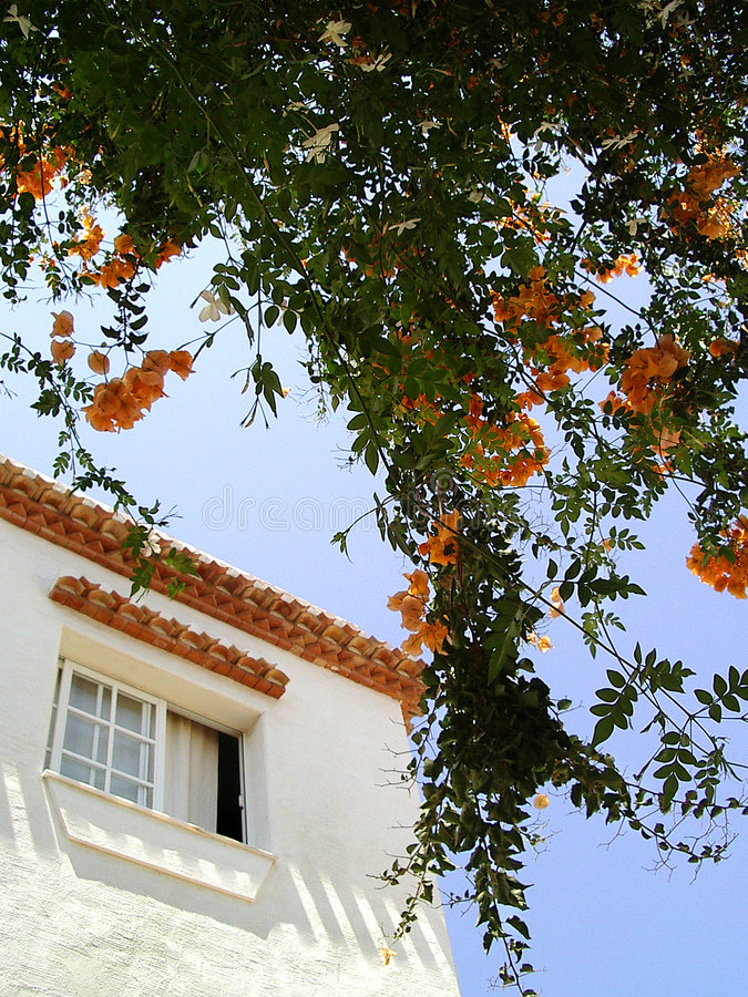 House fragment in Salobrena, Spain royalty free stock images