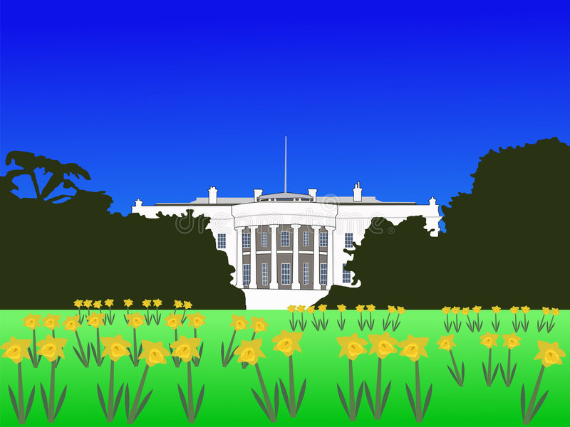 Download White House In Spring Royalty Free Stock Photo - Image: 2170185