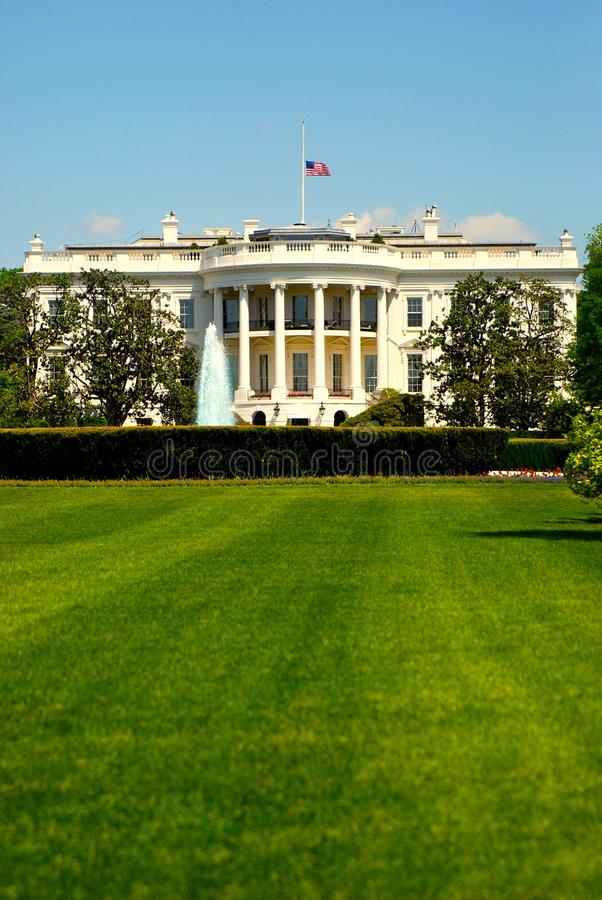 White House at spring sun royalty free stock image