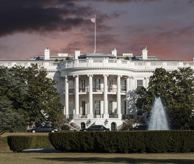 White House with Sunrise Sky royalty free stock photography