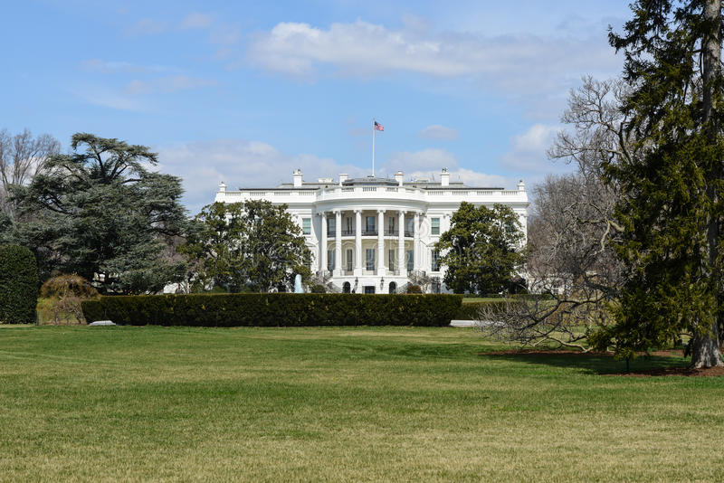 White House of the United States. In the Winter royalty free stock photo