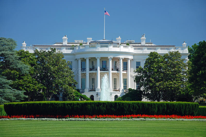 The White House in Washington DC royalty free stock images
