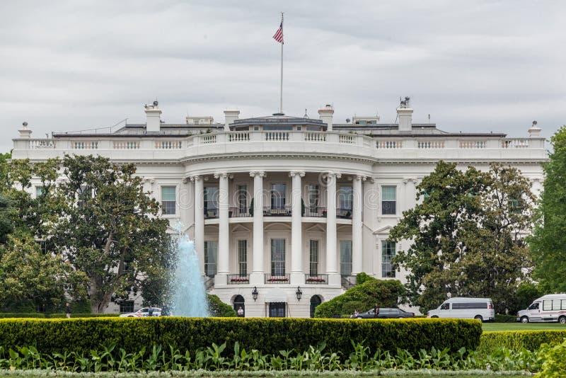 White House Washington DC. The facade of the White house and the garden. Washington DC capital of United States stock photos