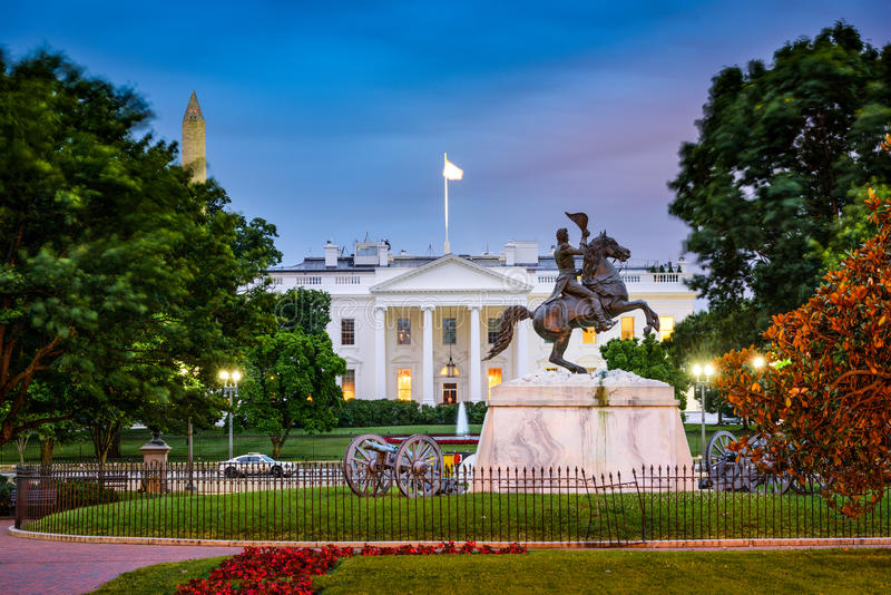 White House in Washington DC royalty free stock photo