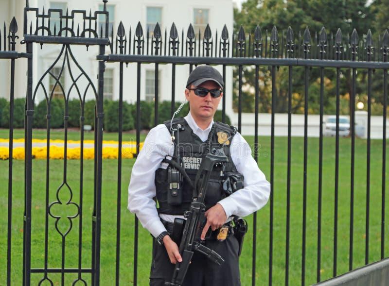 The White House, Washington, DC Security royalty free stock photography