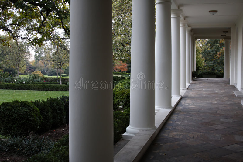 White House West Wing Colonnade royalty free stock images