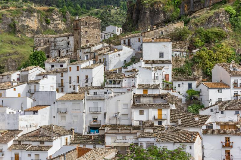 White houses of Cazorla village. In Spain stock photography