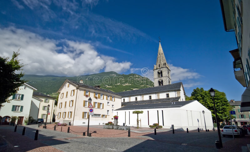 Download White houses and church stock image. Image of city, cloud - 6030245