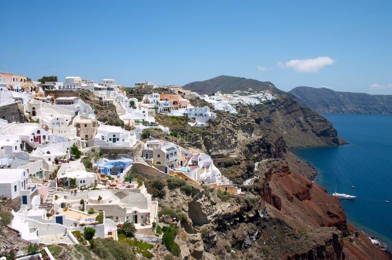 White Houses On A Cliff An Santorini Island Stock Image