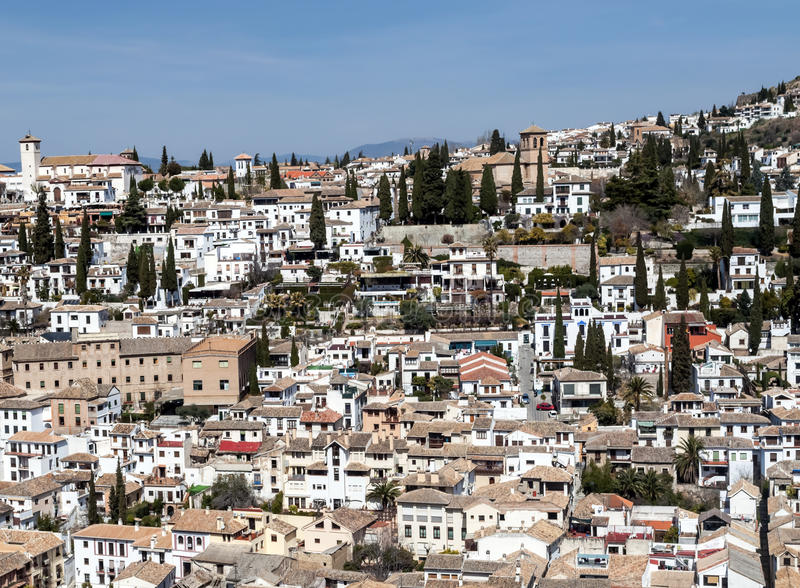 Download White houses in Granada stock photo. Image of grove, leaves - 25122698