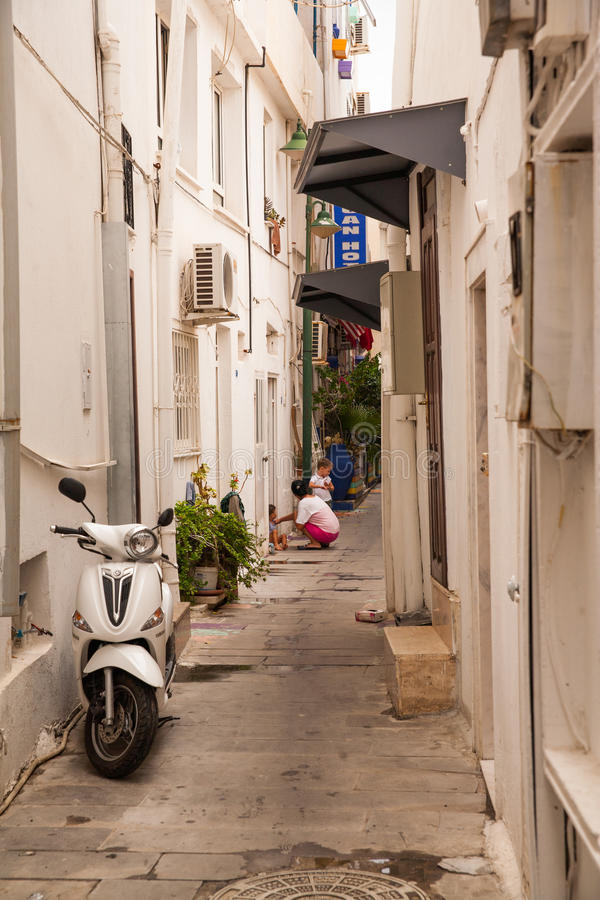 Download White Houses In Greek Style. The Narrow Streets Of Bodrum. Homes  Residents Editorial