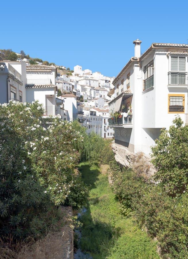 White houses in ravine
